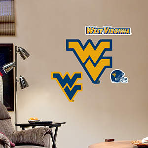 West Virginia Mountaineers - Team Logo Assortment Fathead Wall Decal